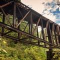 Goldstream Trestle Bridge from below.- Niagara Falls + Goldstream Trestle Bridge