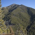 Livingston Peak from the trail.- Baldy Basin Saddle via West Baldy Basin