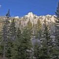 Rocky slopes to the north.- Baldy Basin Saddle via West Baldy Basin