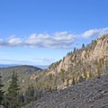 Look behind you for great views.- Baldy Basin Saddle via West Baldy Basin