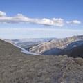 Eastern view from the Saddle looking down at Shell Mountain.- Baldy Basin Saddle via West Baldy Basin