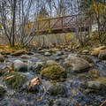 Bridge crossing over the creek.- Galena Creek Trail