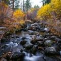 Galena Creek with autumn colors.- Galena Creek Trail