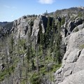 Views of the summit (and fire tower) to the west.- Black Elk Peak via Willow Creek