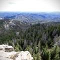 Expansive views from the summit.- Black Elk Peak via Willow Creek