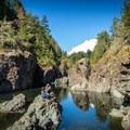 Downriver at Sooke Potholes Regional Park.- Spring Salmon Place Campground