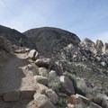 View up toward the summit of Ryan Mountain.- Ryan Mountain Hike
