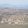 View northwest to Lost Horse Valley and the Hidden Valley area of Joshua Tree National Park from Ryan Mountain.- Ryan Mountain Hike