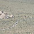 View of Cap Rock from Ryan Mountain.- Ryan Mountain Hike