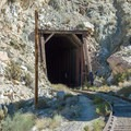 The first of many tunnels along the Goat Canyon Trestle Trail.- Goat Canyon Trestle Trail