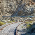 There is a train along the trail a few miles in.- Goat Canyon Trestle Trail