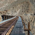 Crossing over the trestle.- Goat Canyon Trestle Trail