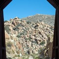 The tunnel framing the mountainside.- Goat Canyon Trestle Trail