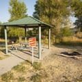 One of three campsites at Pinery Campground and Day Use Area.- Pinery Campground + Day Use Area