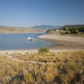View of Rockport Reservoir from Lariat Loop Group Campground.- Lariat Loop Group Campground