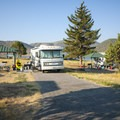 Typical campsite at Twin Coves Campground.- Twin Coves Campground