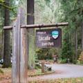 Soda Creek Falls is located in Cascadia State Park.- Soda Creek Falls Trail