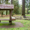 The picnic area at Cascadia State Park.- Cascadia State Park