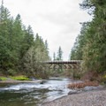 The swimming area along the South Santiam River in Cascadia State Park.- Cascadia State Park