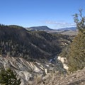 Beautiful canyon views for the first 2 miles.- Yellowstone River Picnic Trail