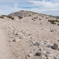 The summit consists of piles of rocks.- San Gorgonio Mountain via Vivian Creek