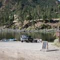 The boat ramp at Corn Creek.- Main Salmon River: Corn Creek to Carey Creek