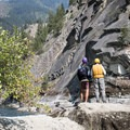 The scout for Black Creek Rapid is on river left.- Main Salmon River: Corn Creek to Carey Creek