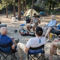 Enjoying some down time at Yellow Pine Bar.- Main Salmon River: Corn Creek to Carey Creek