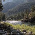 Morning views along the Main Salmon River.- Main Salmon River: Corn Creek to Carey Creek
