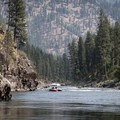 High summer temperatures can be brutal on the Main, and shade on the boat can make the day more comfortable.- Main Salmon River: Corn Creek to Carey Creek