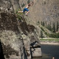 The swimming hole above Swimming Hole camp hosts some excellent cliff jumping.- Main Salmon River: Corn Creek to Carey Creek