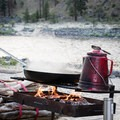 Coffee and a campfire by the Main Salmon River.- Main Salmon River: Corn Creek to Carey Creek