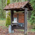 Fee station in Cascadia State Park Campground.- Cascadia State Park Campground