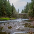 Swimming hole on the South Santiam River.- Cascadia State Park Campground