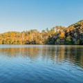 View from the dock.- Morgan Falls Overlook Park