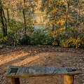 Bench with a view!- Morgan Falls Overlook Park