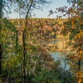 Close-up of the view.- Morgan Falls Overlook Park