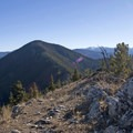 From Lower Mount Ellis, see the saddle to Upper Mount Ellis.- Lower Mount Ellis