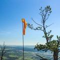 Windsock at the summit of Mount Herman.- Mount Herman
