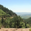On the road back to Monument.- Mount Herman