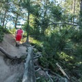 Hiking the trail to Mount Herman.- Mount Herman