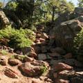 Nearing Mount Herman's summit.- Mount Herman