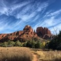View of Cathedral Rock.- Crescent Moon Ranch