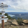 A chance to orient yourself from the summit of Wright Peak.- Wright Peak Summit Trail