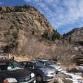 The parking lot, very close to the Mill B South lot.- Mill B North Fork Trail