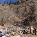 The Mill B North Fork Trailhead.- Mill B North Fork Trail