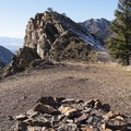 Backcountry firepit.- Mill B North Fork Trail