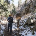 Entering the Mount Olympus Wilderness.- Mill B North Fork Trail