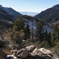 The view from the second lookout. - Mill B North Fork Trail