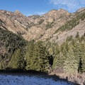Looking north into the Mill B Fork of Big Cottonwood Canyon.- Mill B North Fork Trail